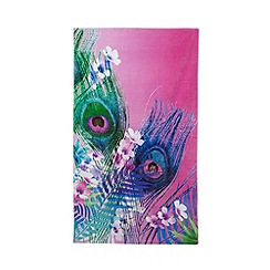 Butterfly Home by Matthew Williamson - Multi-coloured peacock feather print beach towel