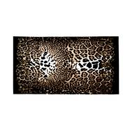 Black leopard printed beach towel
