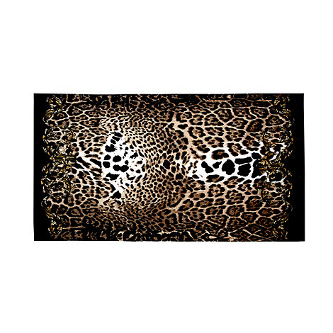 Star by Julien Macdonald - Black leopard print beach towel