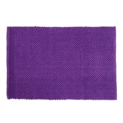 Dark Purple Bobble Textured Bath Mat