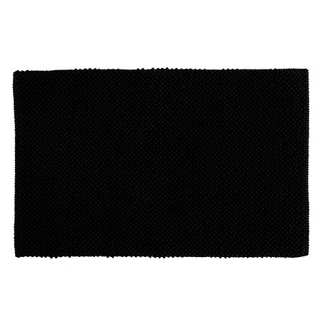 Home Collection Basics - Black bobble bath mat