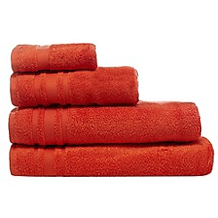 Home Collection Basics - Orange textured line towel