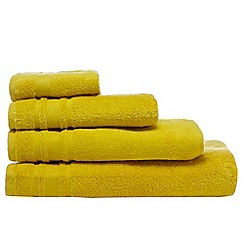 Home Collection Basics - Yellow textured line towel