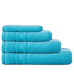 Home Collection Basics - Turquoise 'Zero Twist' cotton towels