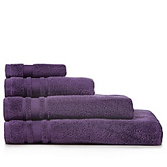 Home Collection Basics - Purple 'Zero Twist' cotton towels