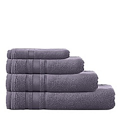 Home Collection Basics - Dark grey 'Zero Twist' cotton towels