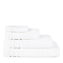 Home Collection Basics - White 'Zero Twist' cotton towels