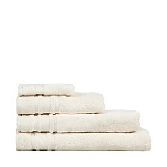 Home Collection Basics - Cream 'Zero Twist' cotton towels
