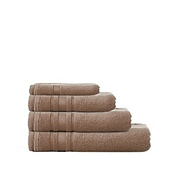 Home Collection Basics - Beige 'Zero Twist' cotton towels
