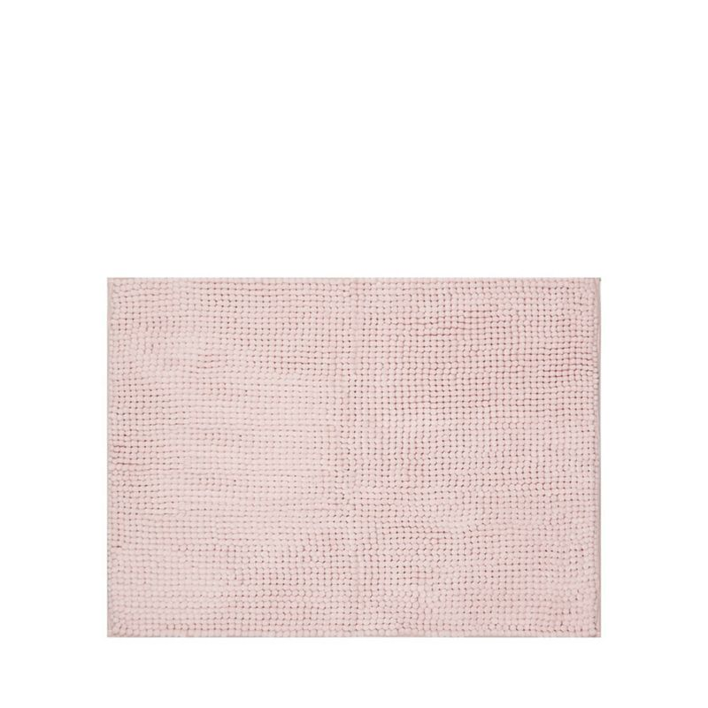 Home Collection Basics - Pale Pink Microfibre Bobble Mat