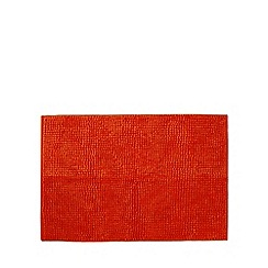 Home Collection Basics - Orange microfibre bobble bath mat