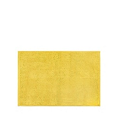 Home Collection Basics - Yellow microfibre bobble bath mat