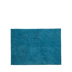 Home Collection Basics - Dark turquoise microfibre bobble bathmat