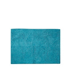 Home Collection Basics - Turquoise microfibre bobble bath mat