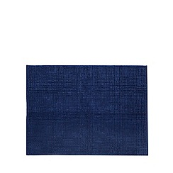 Home Collection Basics - Blue microfibre bobble bath mat