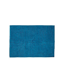 Home Collection Basics - Bright blue microfibre bobble mat