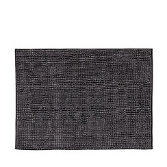 Home Collection Basics - Grey bobble textured bath mat