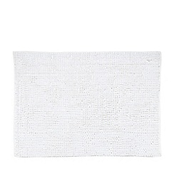 Home Collection Basics - White bobble textured bath mat