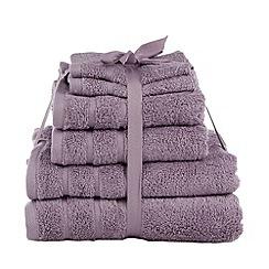 Home Collection Basics - Mauve super-soft cotton towel bale