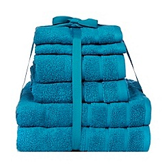 Home Collection Basics - Dark turquoise super-soft cotton towel bale