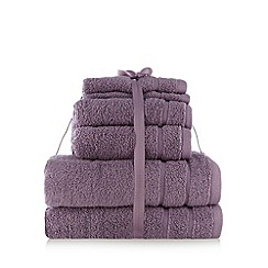Home Collection Basics - Mauve super-soft cotton towel bale