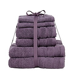 Home Collection Basics - Dark purple super-soft cotton towel bale