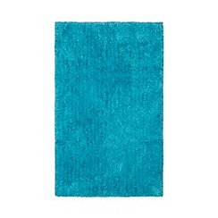 Home Collection Basics - Turquoise microfibre bathmat