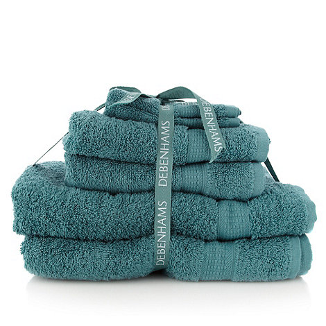 Home Collection Basics - Green super-soft cotton towel bale