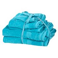 Light turquoise super soft towel bale