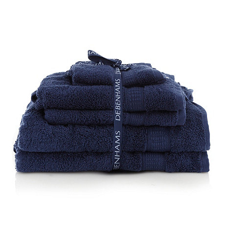 Home Collection Basics - Navy super-soft cotton towel bale