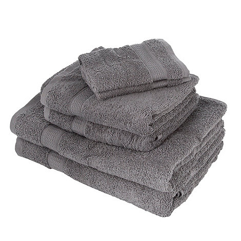 Home Collection Basics - Dark grey super-soft cotton towel bale
