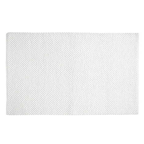 Home Collection Basics - White bobble bath mat