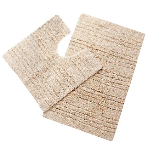 Home Collection Basics - Dark cream pedestal and bath mat set