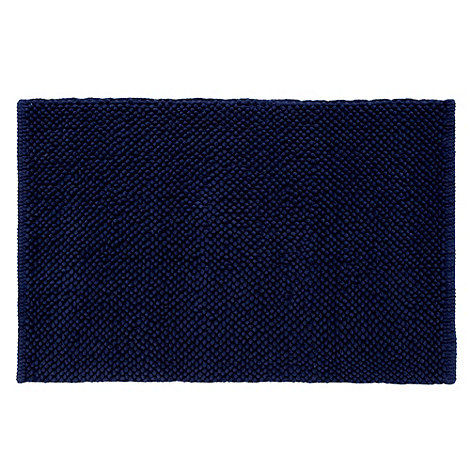 Home Collection Basics - Navy bobble bath mat