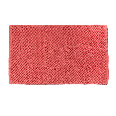 Home Collection Basics - Coral bobble textured bath mat