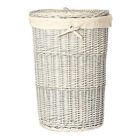 J by Jasper Conran - Grey wicker laundry basket