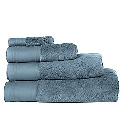 J by Jasper Conran - Blue 'Pima' cotton towels