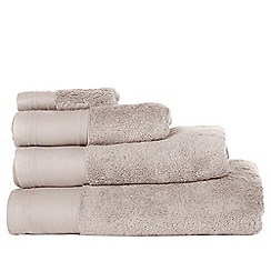 J by Jasper Conran - Silver coloured 'Pima' cotton towels