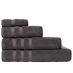 J by Jasper Conran - Designer dark grey hotel turkish cotton towels
