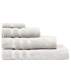 J by Jasper Conran - Silver coloured 'Hotel' luxury Turkish cotton towels