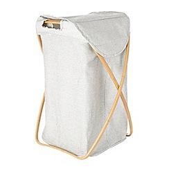 J by Jasper Conran - Designer grey fabric linen bin