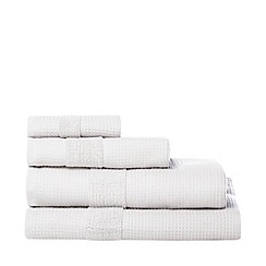 J by Jasper Conran - Silver coloured 'Waffle' cotton towels