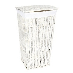 J by Jasper Conran - White wicker laundry basket