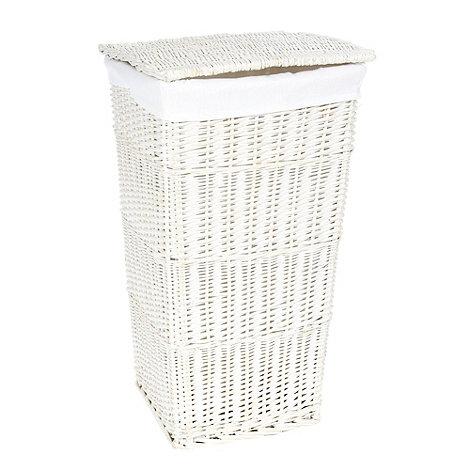 J by Jasper Conran - White wicker laundry basket