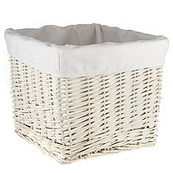 J by Jasper Conran - White lined wicker basket