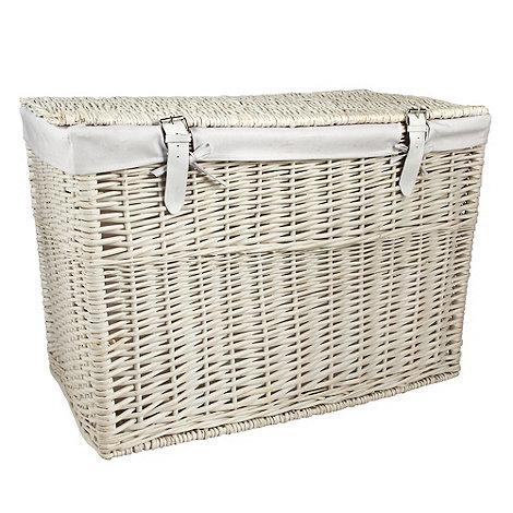 J by Jasper Conran - White large wicker trunk