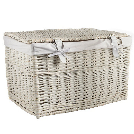 J by Jasper Conran - White small wicker trunk