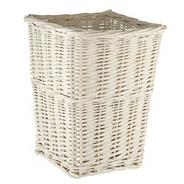 White wicker bin