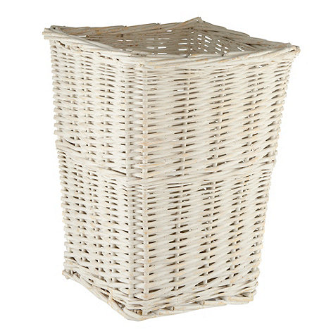 J by Jasper Conran - White wicker bin