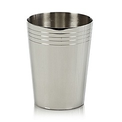 J by Jasper Conran - Silver stainless steel tumbler